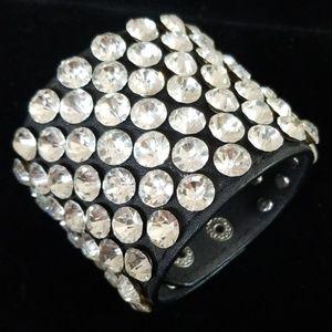 Bling Bling Rhinestone Studded Snap Bracelet NWT